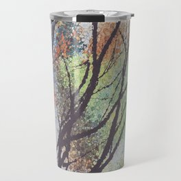 watercolor trees Travel Mug