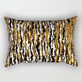 Gold & Black Jungle Rain Rectangular Pillow
