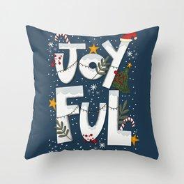 Joyful Holiday Throw Pillow