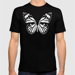 Monarch Butterfly   Black and White T-shirt