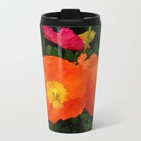 Poppies One Metal Travel Mug