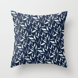 Wintermint Leaves Throw Pillow