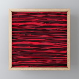Juicy Red Apple Stripes Framed Mini Art Print