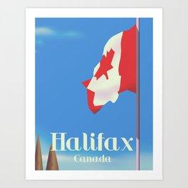 Halifax Canada travel poster Art Print