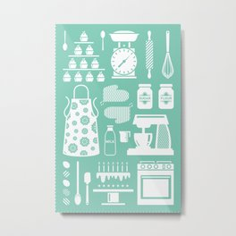 Baking Graphic Metal Print