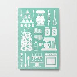 Baking Graphic Metal Print