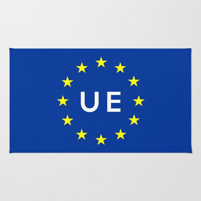 europe country european union  ue flag name text  Rug