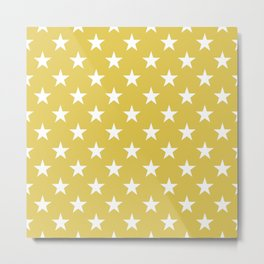 STARS DESIGN (WHITE-GOLD) Metal Print