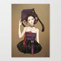 korean Canvas Prints featuring Korean by Nara Navy