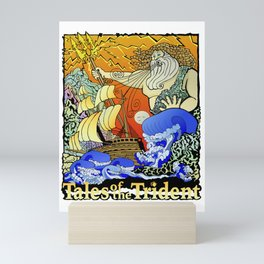 Tales of the Trident:Poseidon with Title Mini Art Print
