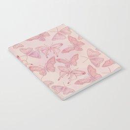 Butterfly Pattern soft pink pastel Notebook