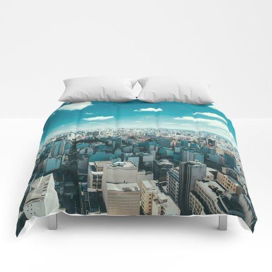 city blue 4 Comforters