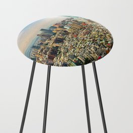 Aerial view and cityscape of Taipei, Taiwan Counter Stool