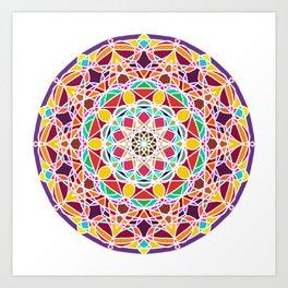 Universe Style Mandala Art Print