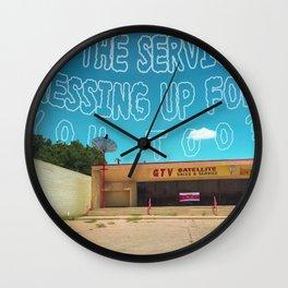 Odesert IV (w/ text) Wall Clock