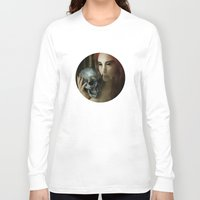 madonna Long Sleeve T-shirts featuring Lamenting Madonna by Richard George Davis