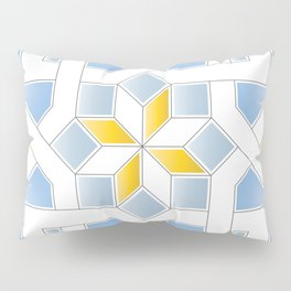 Oriental Pattern - Oriental Design - yellow blue Pillow Sham