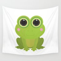 frog Wall Tapestries featuring Frog by Adamzworld