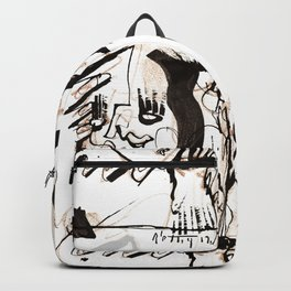 Old Flowers - b&w Backpack