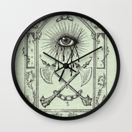 The Practices of Keeping One Eye Open Wall Clock