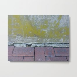 Brick and Lychen Metal Print