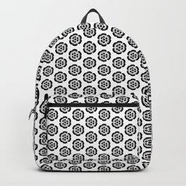 Oriental Black Flowers Backpack