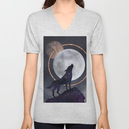Howling at the moon! Unisex V-Neck