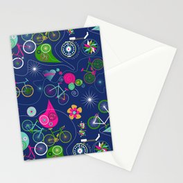 Cycledelic Blue Stationery Cards