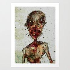Hungry For Human Flesh Art Print