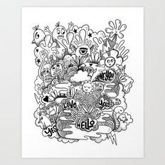 Monster gang Art Print