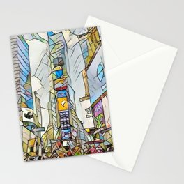 NYC Life in Times Square Stationery Cards