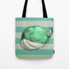 Tubby Sketch Whale Tote Bag