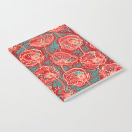 abstract poppies Notebook