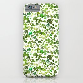 Shamrock and Clover Field iPhone Case