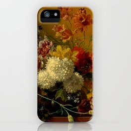 """George Jacobus Johannes van Os """"Still Life with Flowers"""" iPhone Case"""