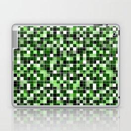 Grey, white, black, green, mint mosaic. Laptop & iPad Skin