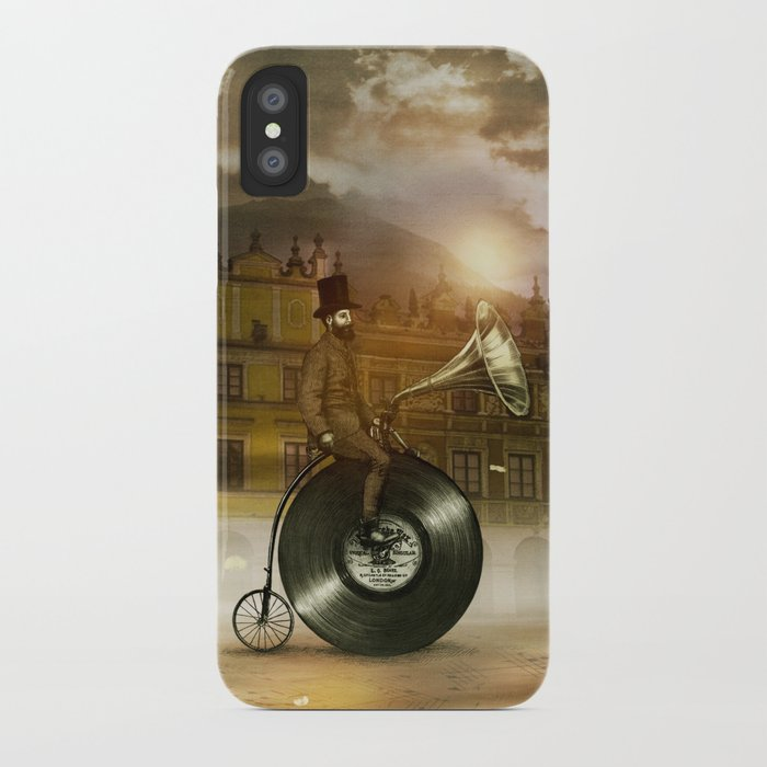 Music Man in the City, by Eric Fan and Viviana González iPhone Case