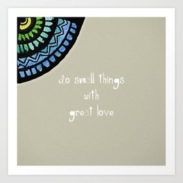Mother Theresa with Surjal Mandala Art Print