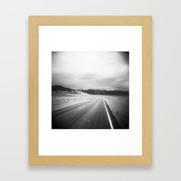 The Loneliest Road - Highway 50 in Nevada in Black and White Framed Art Print