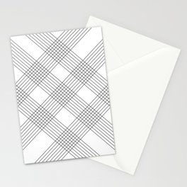 Crossing lines Stationery Cards