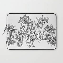Eat A Bag of Dicks Adult Coloring, Funny Coloring Design Laptop Sleeve