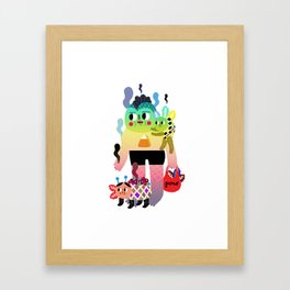 Fish man Framed Art Print