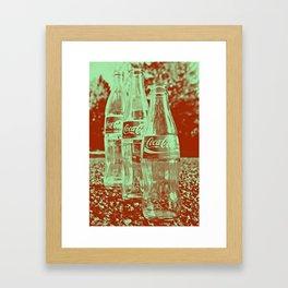 Classic cola bottles Framed Art Print