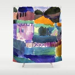 Paul Klee Houses of Saint Germain Shower Curtain