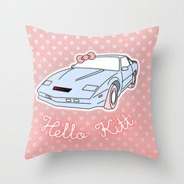 Hello Kitt Throw Pillow