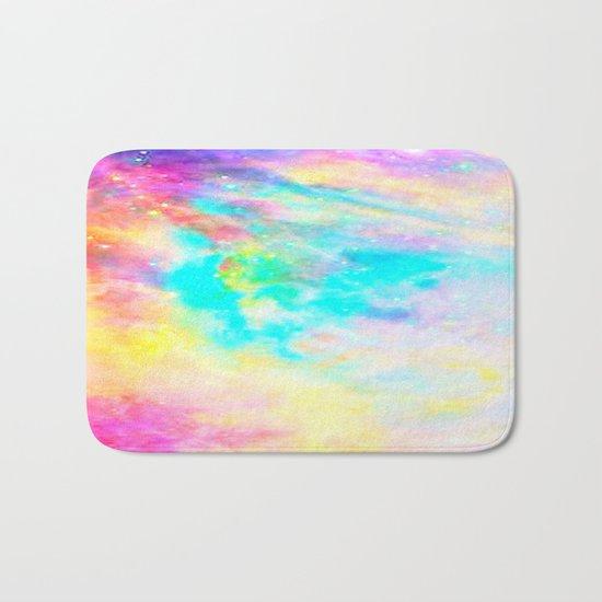 Abstract Galaxy : Bright & Colorful Bath Mat