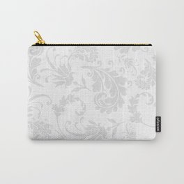 Vintage of white elegant floral damask pattern Carry-All Pouch