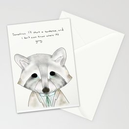 rusty racoon Stationery Cards