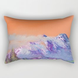Mountains landscape. Diptych Rectangular Pillow