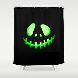 HALLOWEEN. Jack O Lantern : Green Shower Curtain